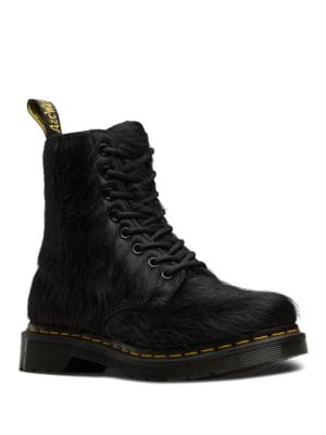 Buy Peloso Hair Calf Lace-Up Booties by Dr. Martens online