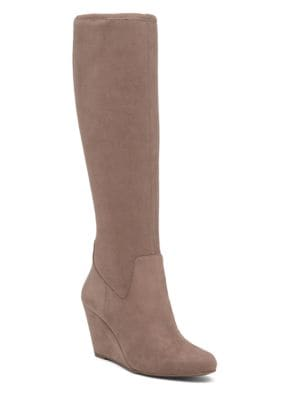 Reiki Knee-High Micro Suede Boots by Jessica Simpson