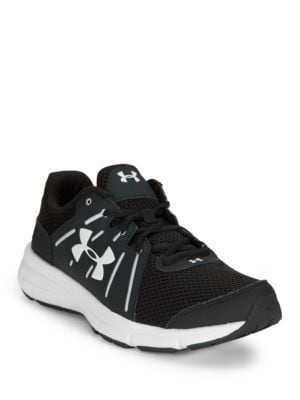 Dash Lace-Up Leather and Mesh Sneakers by Under Armour