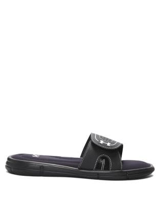 Buy Ignite VIII Leather Slide Sandals by Under Armour online