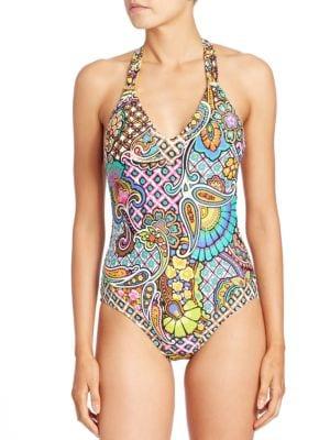 Madagascar Paisley One-Piece Swimsuit by Trina Turk