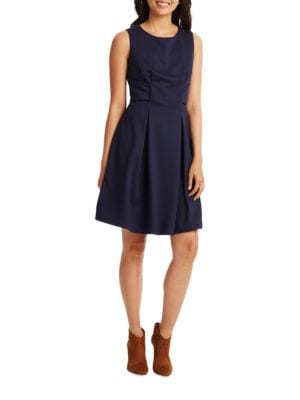 Sleeveless Fit-and-Flare Dress by Eliza J