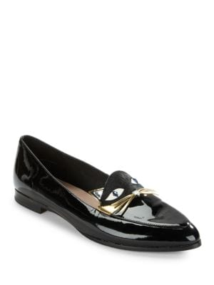 Cecilia Cat Applique Leather Loafers by Kate Spade New York