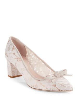 Madelainet Pointed Toe Lace High Heels by Kate Spade New York