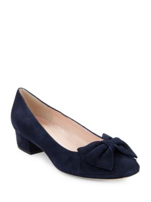 Molly Suede Pumps with Bow Accent by Kate Spade New York