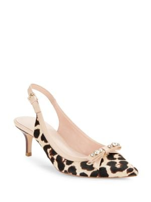 Palina Leopard Print Calf Hair Heels by Kate Spade New York