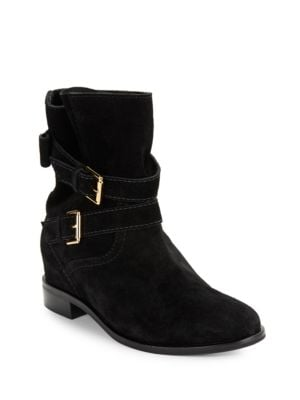 Sabina Double-Strap Suede Ankle Boots by Kate Spade New York
