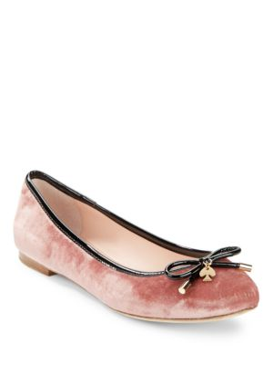 Willa Velvet and Leather Ballet Flats by Kate Spade New York