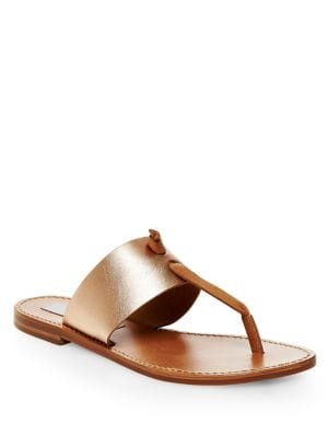 Olivia Leather Thong Sandals by Steve Madden