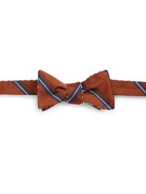 Striped Silk Bow-Tie...