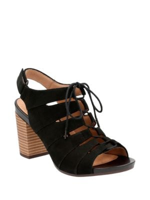 Leather Crisscross Sandals by Clarks