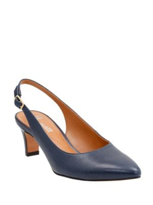 Leather Point-Toe Slingback Shoes by Clarks