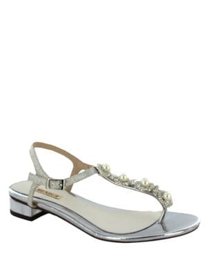Prunella Pearl Thong Sandals by Menbur