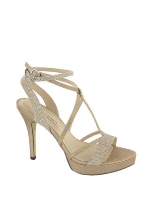 Algar Glittering Platform Sandals by Menbur