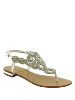 Gazania Ornamented Thong Sandals by Menbur