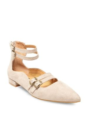 Mabel Buckle-Trimmed Point-Toe Flats by Design Lab Lord & Taylor