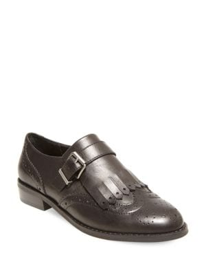 Ice Wingtip Toe Leather Shoes by Design Lab Lord & Taylor