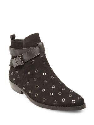 Dylan Point-Toe Microsuede Rivet Booties by Design Lab Lord & Taylor