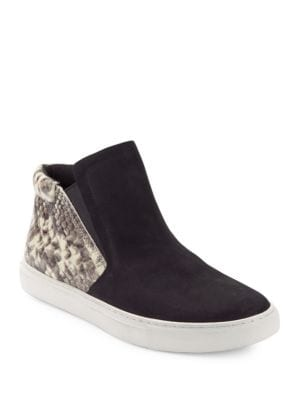 Kalvin Snakeskin-Embossed Contrast Sneakers by Kenneth Cole New York
