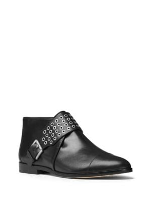 Brody Vachetta Leather Flat Booties by MICHAEL MICHAEL KORS