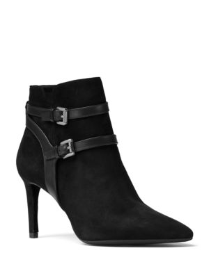 Fawn Kid Suede and Vachetta Leather Booties by MICHAEL MICHAEL KORS