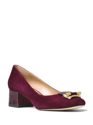 Gloria Kid Suede Pumps by MICHAEL MICHAEL KORS