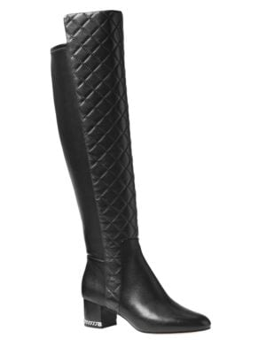 Sabrina Quilted Nappa Dress Boots by MICHAEL MICHAEL KORS