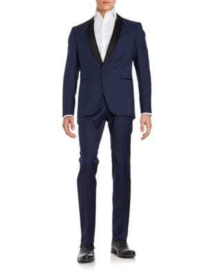 Satin-Trimmed Wool Tuxedo by Hugo