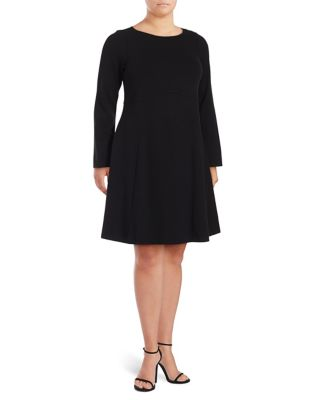 Plus Empire-Waist Long-Sleeve A-Line Dress by Ivanka Trump