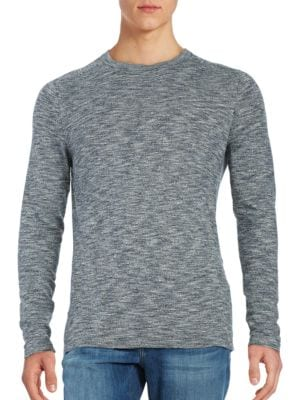 Long-Sleeve Marled Cotton Tee by Selected Homme