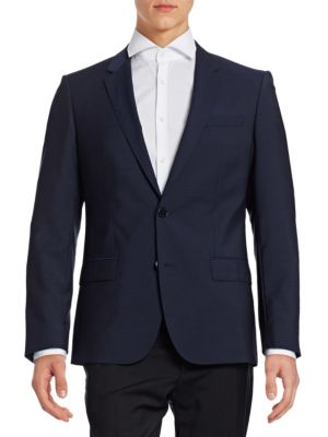 Wool Two-Button Suit Jacket by Hugo