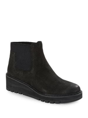 Chelsea Platform Nubuck Boots by Eileen Fisher