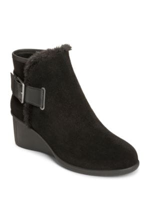 Gravel Suede Ankle Boots by Aerosoles
