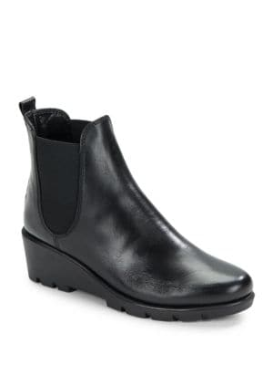 Slimmer Leather Wedge Ankle Boots by The Flexx