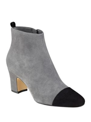 Lundy Cap-Toe Suede Booties by Ivanka Trump