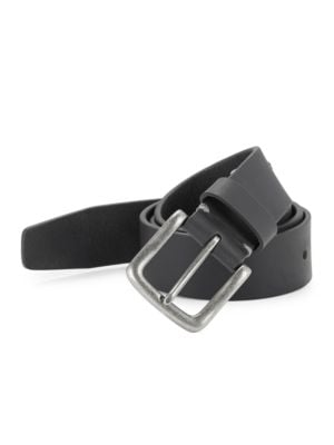 Tumbled Leather Belt by Tallia Orange