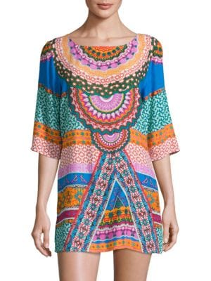 Printed Cover-Up Dress by Laundry by Shelli Segal