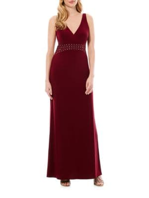 Embellished Waist Gown by Laundry by Shelli Segal