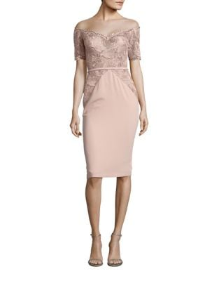 Midi Lace Sheath Dress by Nicole Bakti
