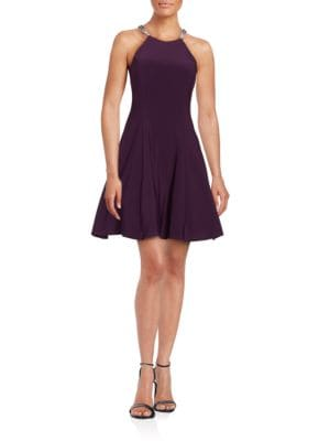 Embellished Fit-and-Flare Dress by Betsy & Adam