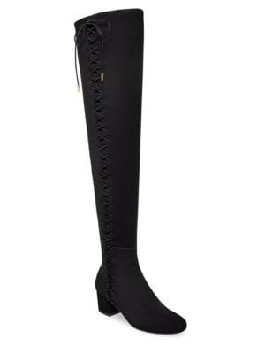 Mally Over-The-Knee Flat Suede Boots by B Brian Atwood
