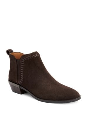 Carter Suede & Leather Slip-On Ankle Boots by COACH