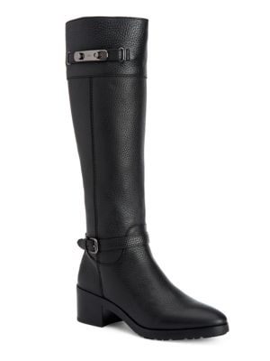 Sullivan Textured Leather Knee-High Boots by COACH