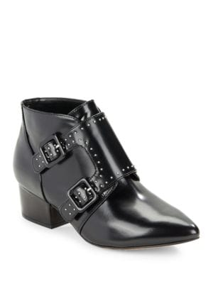 Buy Roree Monk Strap Leather Booties by French Connection online