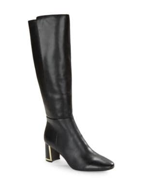 Sachee Leather Knee-High Boots by Karl Lagerfeld Paris