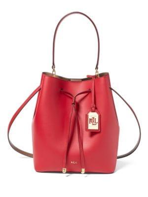 Dryden Medium Drawstring Leather Bag 500046264495