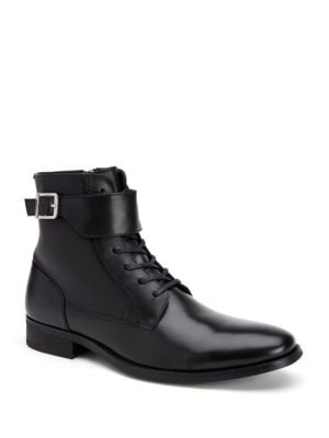 Stokely Calf Leather Boots by Calvin Klein