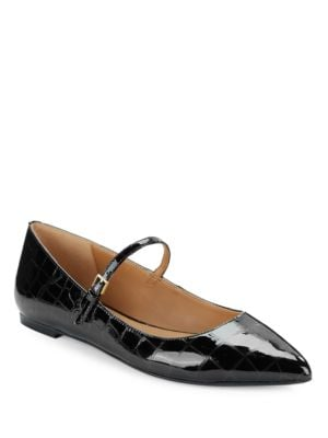 Gracy Patent Leather Point-Toe Mary Janes by Calvin Klein