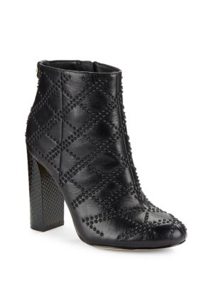 Buy Jamine High-Heel Studded Leather Booties by Calvin Klein online