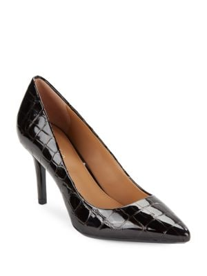 Gayle Leather Embossed Pumps by Calvin Klein